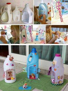 The boy wants a doll house? He can make one himself, with a little help, of course.