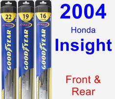 Front & Rear Wiper Blade Pack for 2004 Honda Insight - Hybrid