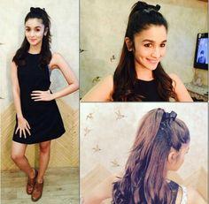 Alia Bhatt Is The Perfect Girl Next Door Meets Glamour Diva Alia Bhatt Hairstyles, Bollywood Hairstyles, Open Hairstyles, Girl Hairstyles, Hairdos, Bollywood Celebrities, Bollywood Fashion, Bollywood Stars, Bollywood Actress