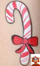 The TOP 100 cheek art photos on the SNAZAROO site Face Painting Images, Face Painting Tutorials, Face Painting Designs, Diy Face Paint, Face Paint Makeup, Candy Cane Image, Christmas Face Painting, Cheek Art, Belly Painting