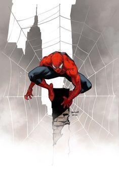 Spiderman Sam Raimi, Spiderman Art, Amazing Spiderman, Comic Book Characters, Marvel Characters, Comic Character, Comic Books Art, Book Art, Dan Mora