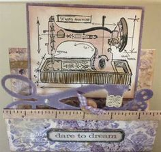 Tim Holtz Cling Rubber Stamp Set - Sewing Blueprint and Sewing ...