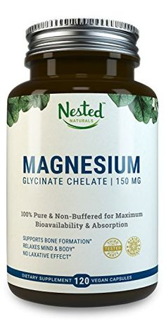 Magnesium Glycinate Chelate in Vegan Capsules, Better Absorbing than Tablets , Pure & Non-Buffered for Maximum Bioavailability & Absorption with NO Laxative Effect - Non-GMO Magnesium Supplements, Magnesium Deficiency, Natural Supplements, Calcium Magnesium, Magnesium Glycinate, 5 Htp, Serotonin Levels, Patchouli Essential Oil, Essential Oils