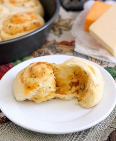 Cheddar Swirl Rolls by Traceys Culinary Adventures, via Flickr- bet you could use crescent roll dough for this.