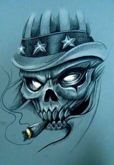 ~ † Wicked Smoking Skull †