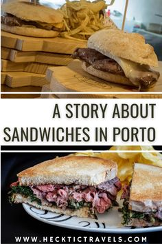 We searched for the best sandwiches around Porto and ended up having some really memorable meals. Here are our top recommendations if you're looking for some good stuff in Portugal. Visit Portugal, Best Sandwich, Sandwiches, How To Memorize Things, Good Things, Meals, Recipes, Top, Porto