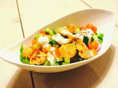 Meine Sattmacher: Sattmacher Salat mit Hähnchen und Joghurt-Knoblauch-Dressing