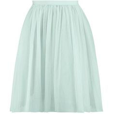 Amara Knee Length Tulle Skirt (35 AUD) ❤ liked on Polyvore featuring skirts, bottoms, green tulle skirt, knee length skirts, knee high skirts, tulle skirts and green skirt
