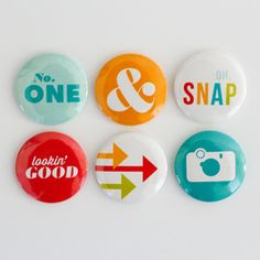 *Kelly Purkey KPBG8 OH SNAP Set of 6 Flair Badges