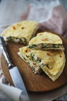 Are you looking for a way to liven up breakfast? This spinach and white bean breakfast quesadilla will do just that!