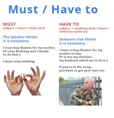 English grammar - Must vs Have to
