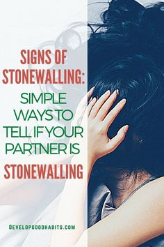 Signs of Stonewalling: Simple Ways to Tell if Your Partner is Stonewalling Best Relationship Advice, How To Improve Relationship, Couple Relationship, Relationships, Mental Health Facts, Mental Health And Wellbeing, Saving Your Marriage, Good Dates, What Is Love