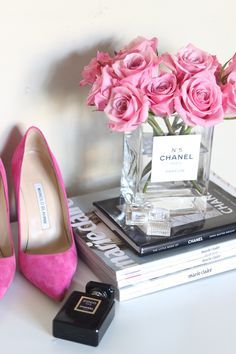 DIY CHANEL FLOWER VASE — The Cosmo Diaries