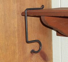 Up for Auction! #6 Mantle Hook w Rat Tail Loop Hand Crafted Holiday Stocking All Occasion Hearth
