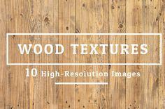 10 Wood Texture Background Set 005 by FWStudio on @creativemarket