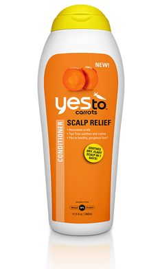 Introducing the NEW Yes To Carrots Scalp Relief Conditioner.