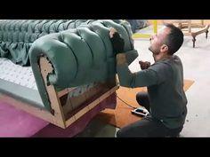 Bed Headboard Design, Sofa Bed Design, Living Room Sofa Design, Bedroom Closet Design, Chesterfield Furniture, Upholstered Furniture, Bed Furniture, Furniture Design, Tufted Sofa