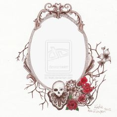 Vintage Frame Tattoo Design. by ~likekt for Wednesday Addams Tattoo