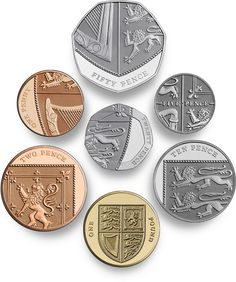 The latest UK coin design pieces together to create a shield. English Coins, Bags Game, Coin Design, Foreign Coins, Diy Wallet, Old Money, Coin Bag, World Coins, Rare Coins
