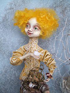 Ooak Pure Sculpt doll Set your dreams free... by AKVARELA on Etsy