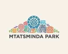 Mtatsminda Park Logo Design  A logo that immediatedly gives you a feeling for what it represents with it's images and colors.  #logo #logodesign #branding