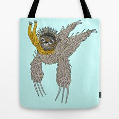 Impulsive Sloth Tote Bag by Brittany Metz - $22.00