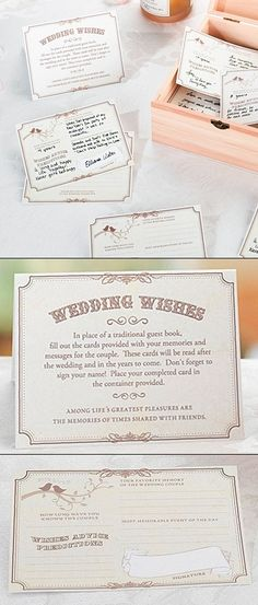 Wishes, Advice, Predictions Wedding Wishes Cards (Set of 48)