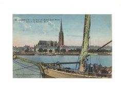 CPA - BORDEAUX (33) - LA TOUR ET L EGLISE ST MICHEL VUES DE LA BASTIDE -1927