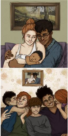 From just James,  Lily and Harry to Ginny,  James Sirius,  albus Severus,  Harry and Lily Luna.