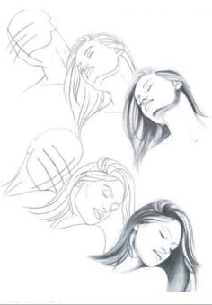 drawing head at angles Drawing Skills, Drawing Techniques, Figure Drawing, Pencil Art Drawings, Art Drawings Sketches, Drawing Heads, Sketches Tutorial, Face Sketch, Anatomy Drawing