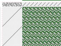 draft image: Page 052, Figure 08, Atlas D'Armures Textiles, B. Fressinet, 8S, 40T