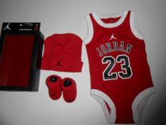 NEW baby boy girl Michael Jordan's clothes size 0/3/6 months Chicago  Bulls  Plus a big white bow of course
