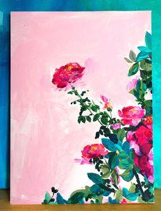 'Rose Garden I' Original Painting - price reduced!