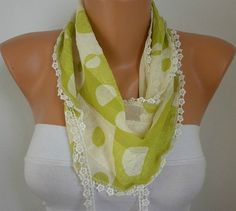 WAS 15 NOW USD 990    Green Scarf    Headband Necklace by fatwoman, $9.90