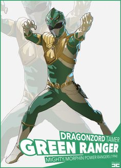 The Green Ranger, a. Tommy Oliver, sixth member of the Mighty Morphin Power Rangers and wielder of the Dragon Power Coin. He made his fighting game debut in Mighty Morphin Power Rangers Kamen Rider, Tommy Oliver, Go Go Power Rangers, Green Ranger, Mighty Morphin Power Rangers, Comic Art, Pop Culture, Character Design, Childhood
