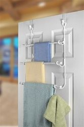 3 Rack Towel Holder for Over the Door use is a college dorm room must have essential product that can also be called OTD towel holder - Modern Do It Yourself Organization, Dorm Organization, College Bathroom, College Dorm Rooms, Dorm Room Closet, Rustic Closet, Dorm Life, College Life, Bathroom Doors
