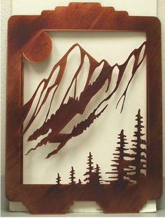 Laser Cut panel ...ahhhh...mountain art...