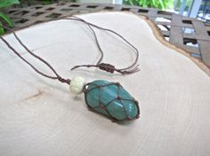 """Aventurine Healing Crystal Necklace -- Aventurine is often called the """"Stone of Opportunity"""" meaning this is one lucky necklace! It's also a great booster for creatives--business or art alike!"""