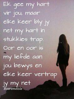 Boeremeisie liefde Afrikaanse Quotes, Qoutes, Love Quotes, Sayings, Quotations, Qoutes Of Love, Quotes, Quotes Love, Lyrics