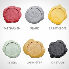 Buy Game of Thrones House Sigil Wax Seal Coaster Set online and save! The Game of Thrones House Sigil Wax Seal Coaster features 6 beautifully designed drink coasters that are made of silicone with the house crest . Game Of Thrones Premiere, Game Of Thrones Gifts, Game Of Thrones Party, Game Of Thrones Quotes, Game Of Thrones Fans, Hr Giger, Valar Morghulis, House Sigil, Mugs