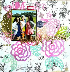 Beautiful Together: Mixed Media Layout