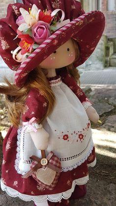 Rag dolls Handmade doll Fabric doll Tilda doll Rag doll Cloth Doll Red hair Made in the UK Ooak doll GRACE inches tall Pretty Dolls, Beautiful Dolls, Fabric Toys, Polymer Clay Dolls, Sewing Dolls, Waldorf Dolls, Soft Dolls, Doll Crafts, Stuffed Toys Patterns