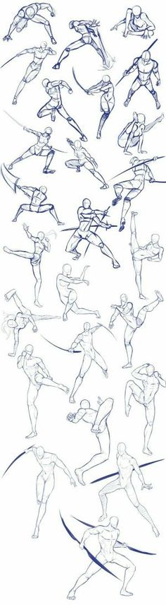 Body positions, weapons, fighting, swords; How to Draw Manga/Anime by ernestine