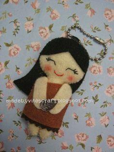 Pocahontas Disney Princess Felt Doll Keychain