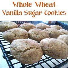 Whole Wheat Vanilla Sugar Cookies Recipe! #cookie #recipes