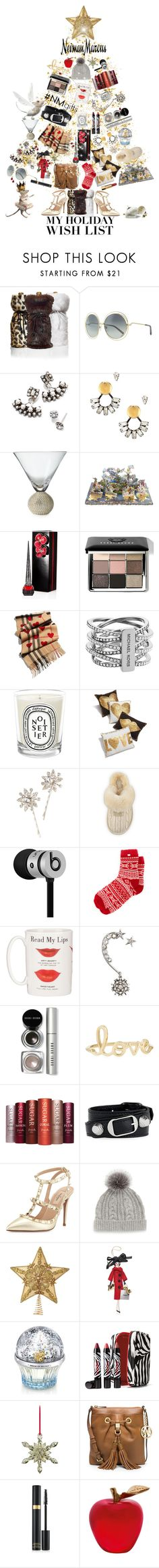 """The Holiday Wish List With Neiman Marcus: Contest Entry"" by cjfdesign on Polyvore featuring Chloé, DANNIJO, Neiman Marcus, Christian Lacroix, Christian Louboutin, Bobbi Brown Cosmetics, Burberry, Michael Kors, Diptyque and Jonathan Adler"