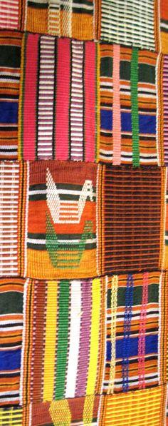 Africa | Kente Wrapper Detail . Ewe people. ca. 1960/70s.