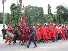 Funerals in Ghana - Ghanians in traditional funeral attire mark the death of President John Atta Mills in 2012. Photo by Ghana Decides via Flickr.