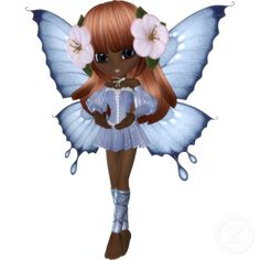 Photo Sculpture Magnet - African American Princess Butterfly