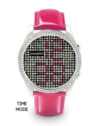 (Limited Supply) Click Image Above: Phosphor Womens Appear Crystal Stainless Watch - Pink Leather Strap - Black Dial - Cool Watches, Watches For Men, Women's Watches, Pink Watch, Look Chic, Pink Leather, Patent Leather, Store, Women's Accessories